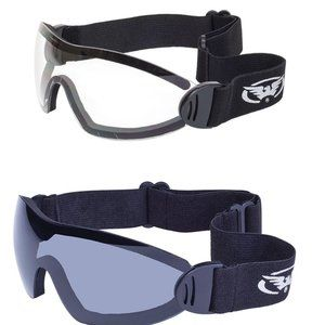 2 Motorcycle Skydive Goggles Racing Casual Fauci